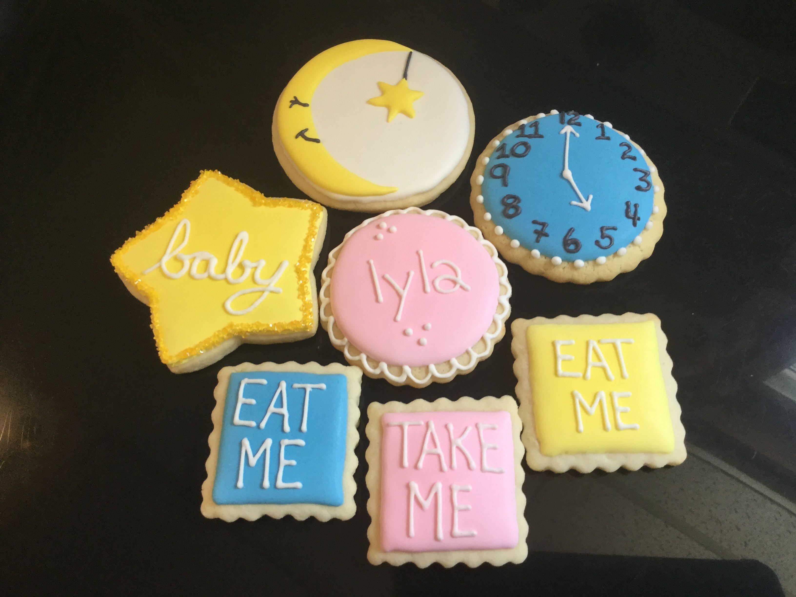 Baby Shower Alice In Wonderland Accent Cookies