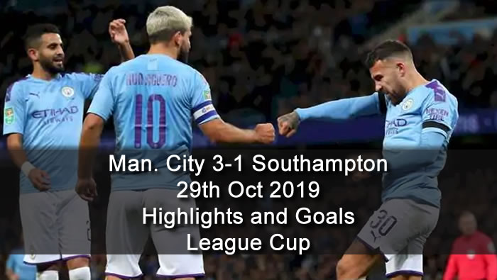 Manchester City 31 Southampton 29th Oct 2019 Football