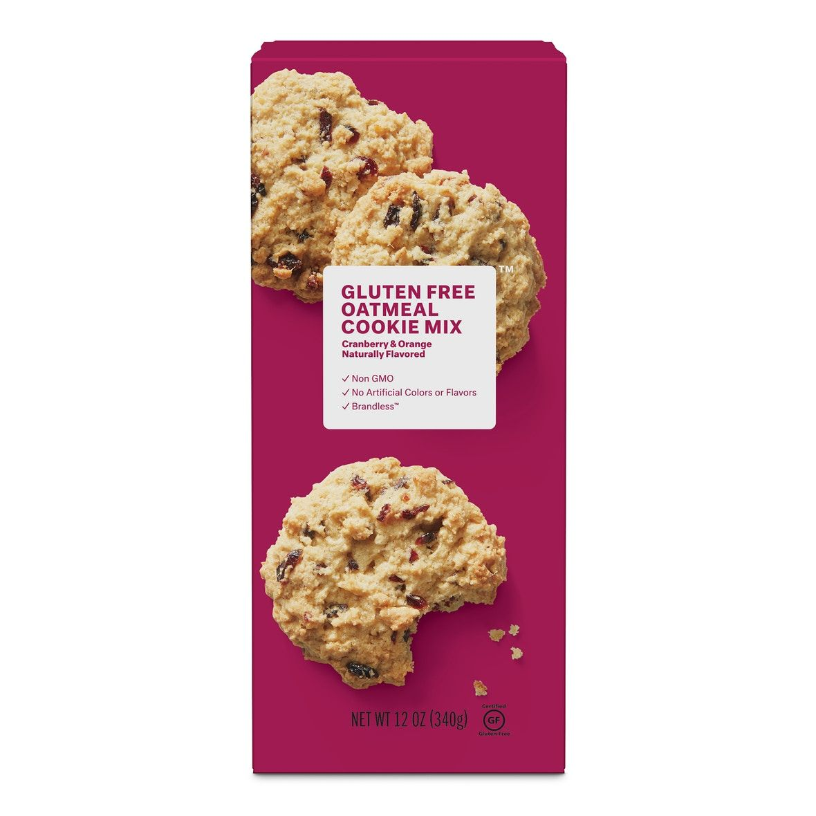 Gluten Free Cranberry Orange Oatmeal Cookie Mix 12 Oz