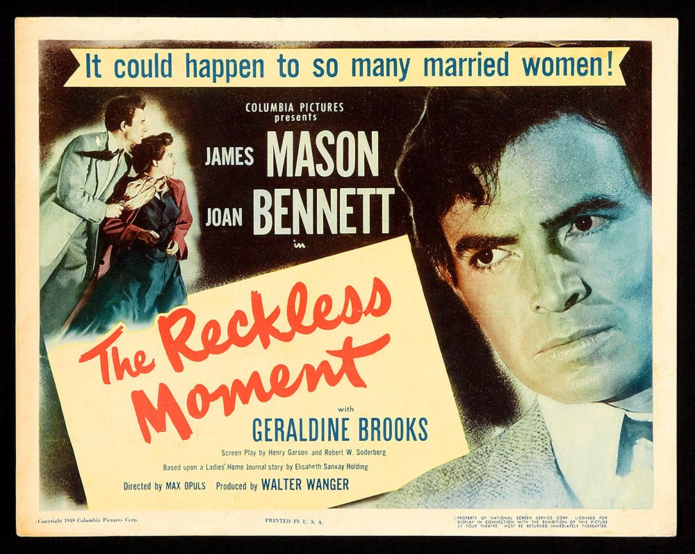 The Reckless Moment (1949) directed by Max Ophüls, starring Joan ...