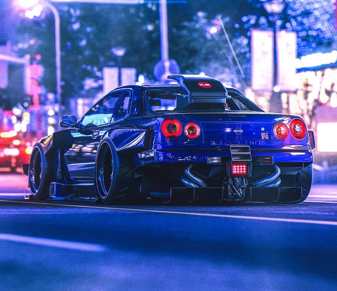 Datsun Car Wallpaper: #spotted. 😎 #art #design #3d #nissan #r34 #gtr