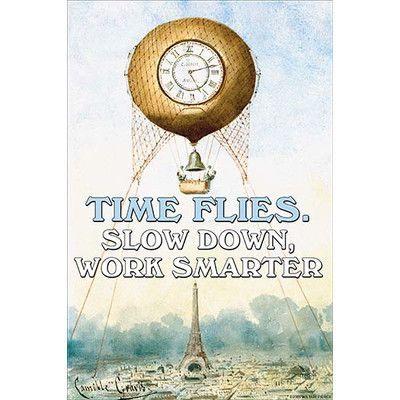 "Buyenlarge 'Time Flies' by Jason Pierce Vintage Advertisement Size: 66"" H x 44"" W"