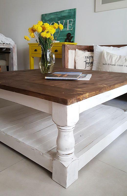 Mesa ratona patas torneadas y deck en 2019 mesas - Patas torneadas de madera ...