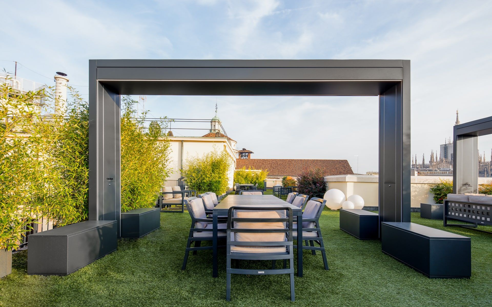 Progetti Per Esterni : Unosider architetture per esterni gazebo strutture tessili