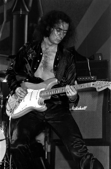 Ritchie Blackmore from Rainbow performs live on stage at The Beacon Theatre in New York on November 12 1975