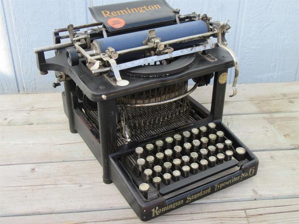 Antique Remington Standard Model 12 Typewriter serial #ZR318600 Works!