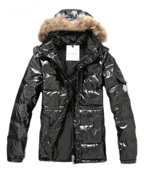 eb04e47c0 Moncler Down Jackets Men Rabbit Fur Cap Style Army Black  2781737 ...
