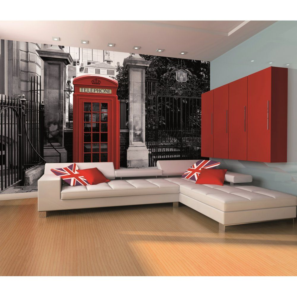 London Wallpaper For Bedrooms 1 Wall London Telephone Box Wall Mural 1 Wall From I Love