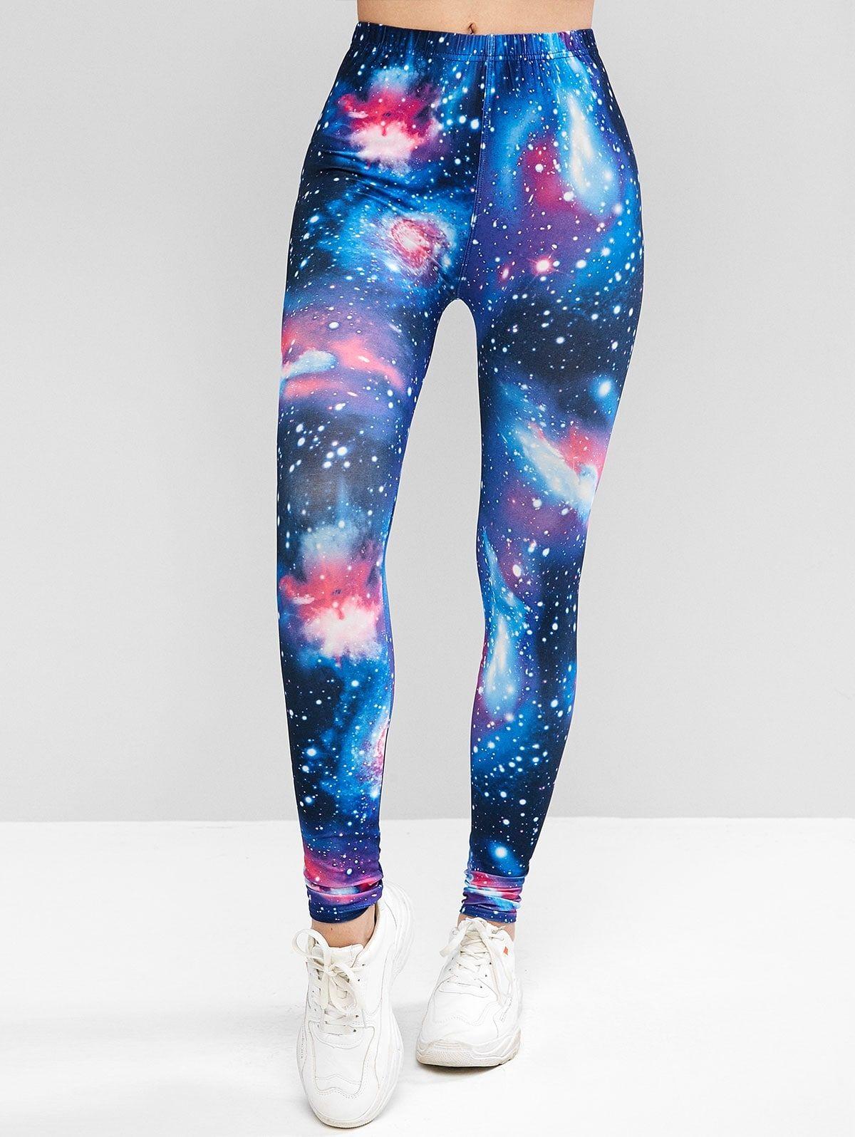 galaxy leggings flowers