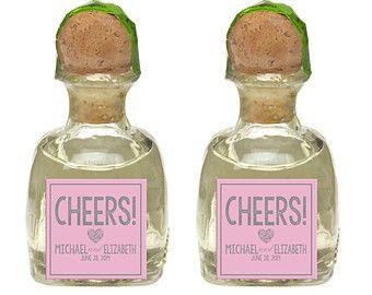 Custom Patron Tequlia Mini Bottle Labels Personalized Wedding Favors ...