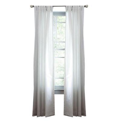 Martha Stewart Living Pure White Classic Cotton Tab Top Curtain