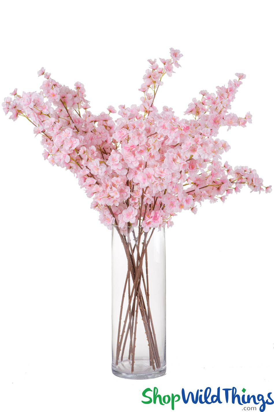 Artificial Flowering Cherry Branch 34 Tall Silk Pink Blossoms With Bendabl Cherry Blossom Wedding Inspiration Cherry Blossom Branch Floral Wedding Inspiration