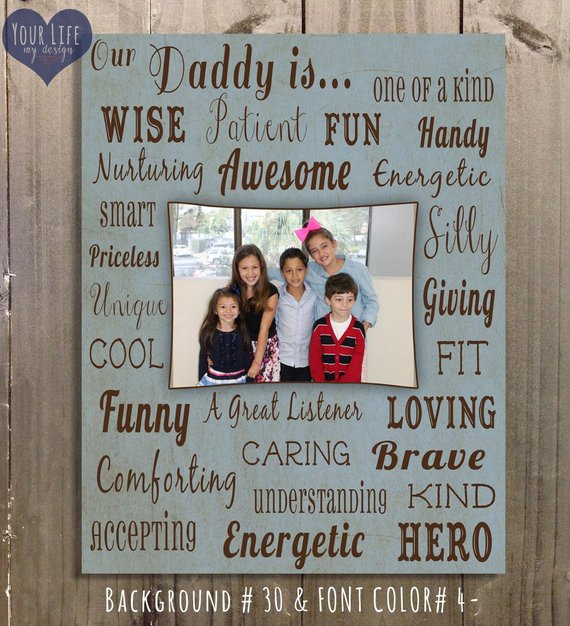 Dad Canvas, Father's Day Gift Dad, Personalized Photo