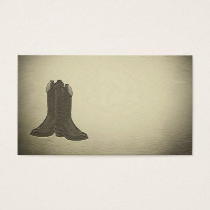 Country western old style boots business cards reheart Image collections