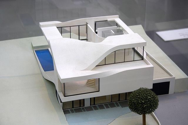 model of haus am weinberg stuttgart by unstudio ben van berkel caroline bos stuttgart haus. Black Bedroom Furniture Sets. Home Design Ideas