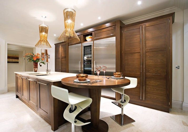 Dark Wood Modern Kitchen   Walnut Kitchen Cabinets   Bespoke Kitchen
