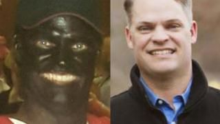 This shocking photo shows a candidate for the Louisiana House in blackface dressed as Tiger Woods