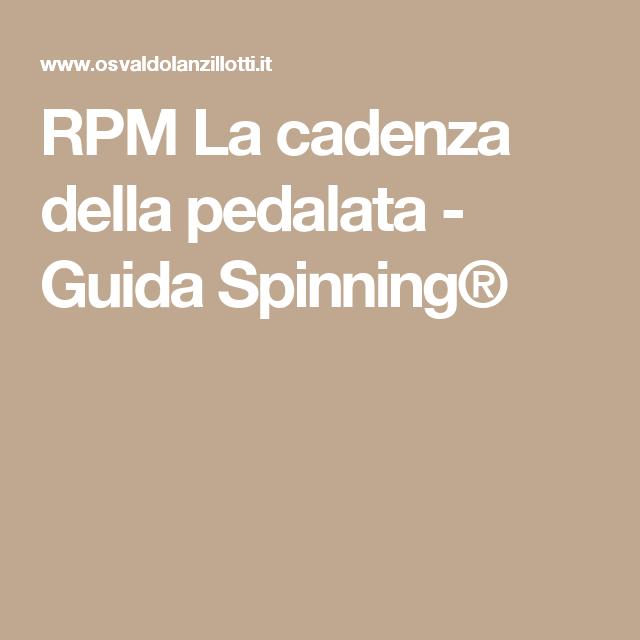 RPM La cadenza della pedalata - Guida Spinning®
