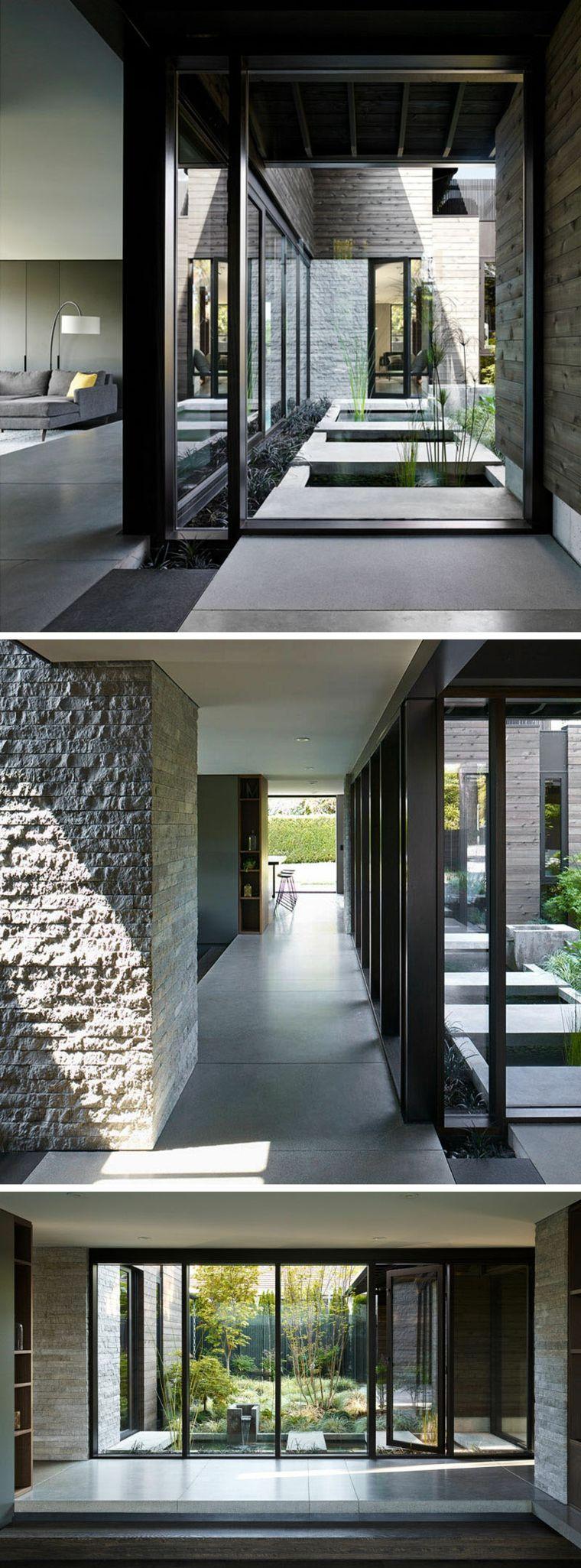 Maison Rénovée à Seattle : Couloirs Avec Portes Fenêtres