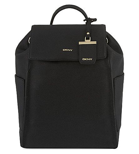Dkny Chelsea Grained Leather Backpack Selfridges