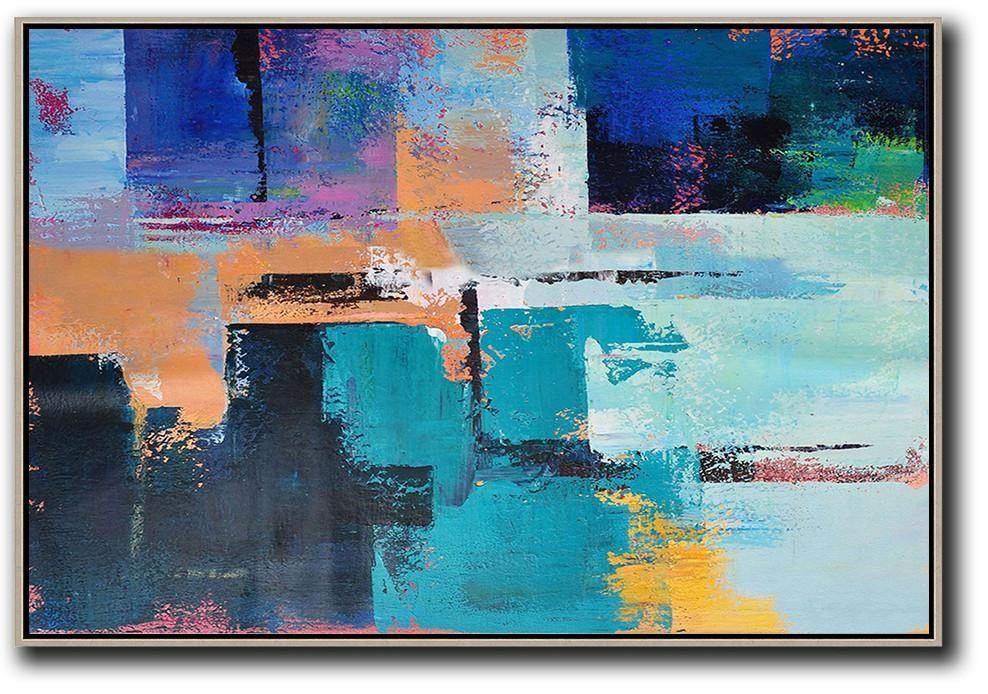 Horizontal Palette Knife Contemporary Art C37c Oil