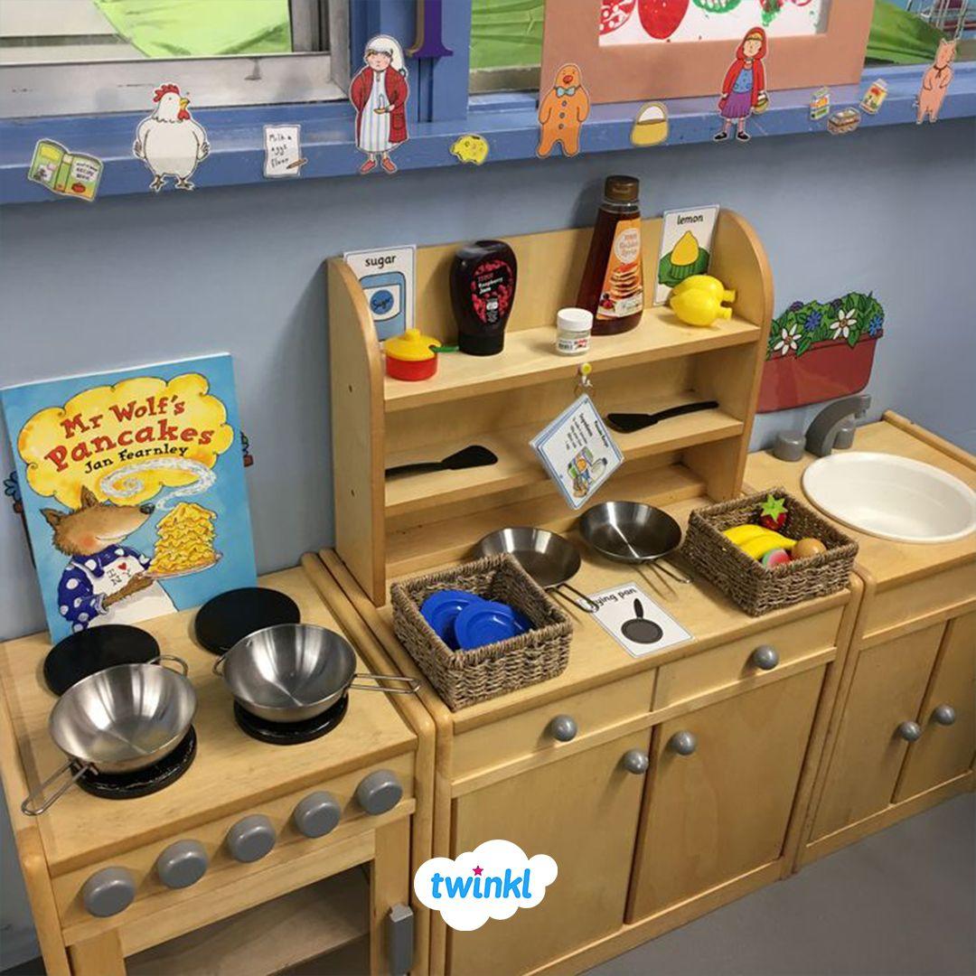 Mr Wolf's Pancakes Role Play Area!  #curiosityapproacheyfs