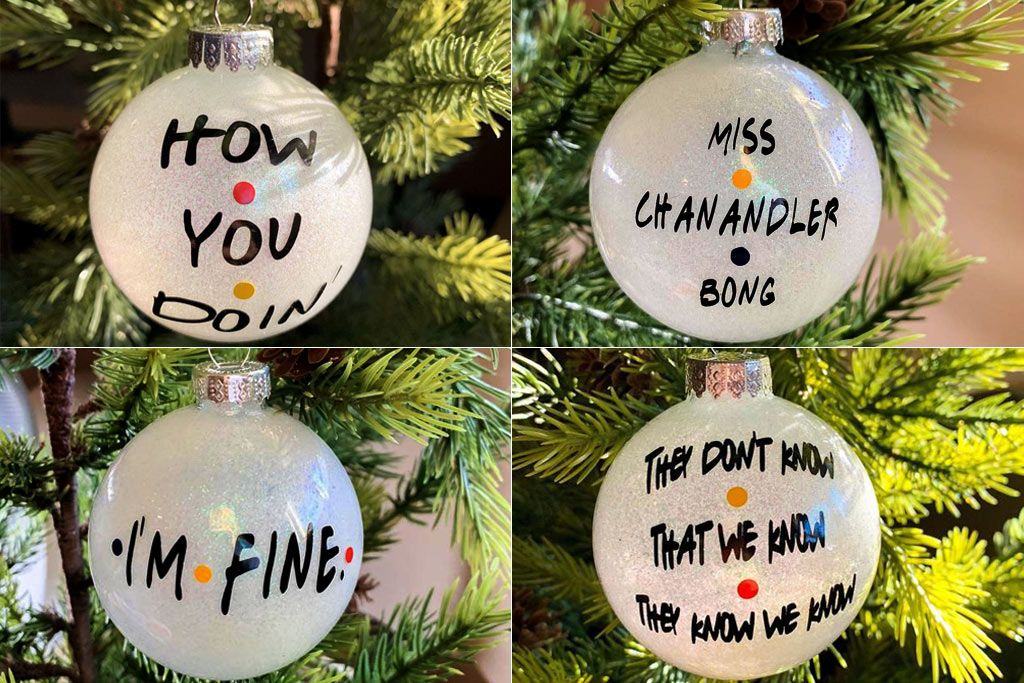 These Friends Christmas Tree Ornaments From Etsy Are So Funny Friend Christmas Ornaments Friend Christmas Funny Christmas Ornaments Diy