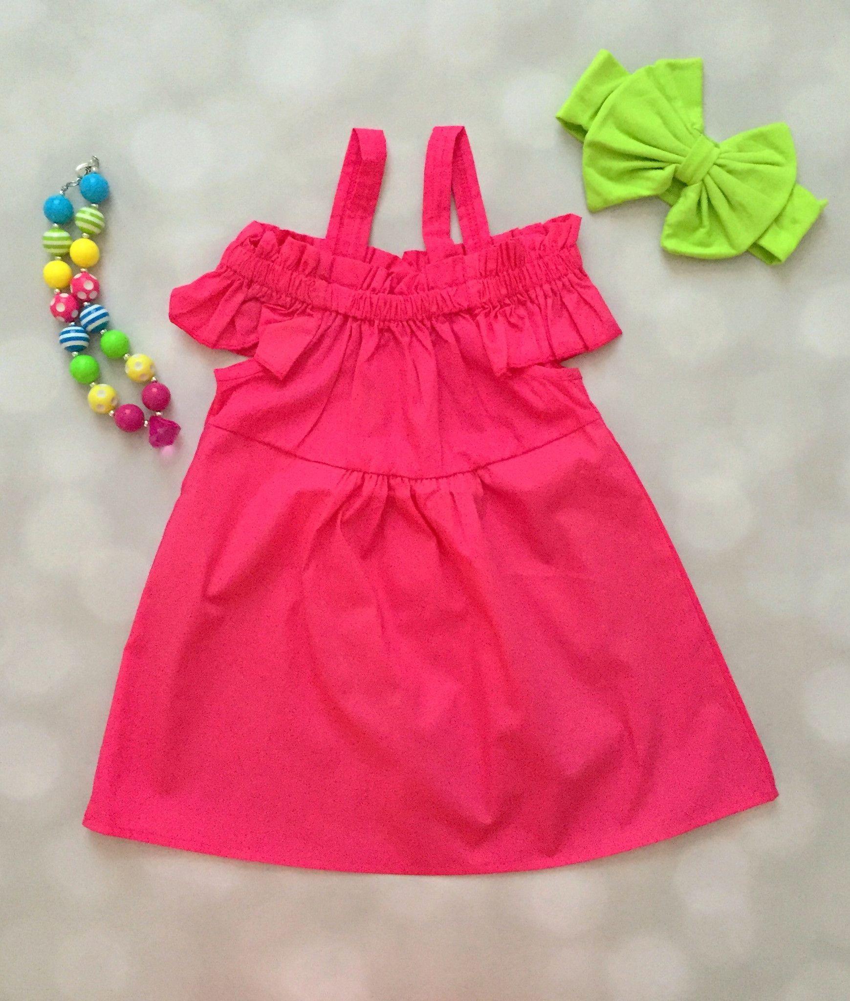 Hot pink color dress  Off Shoulder Dress  Hot Pink  baby dress  Pinterest  Hot pink
