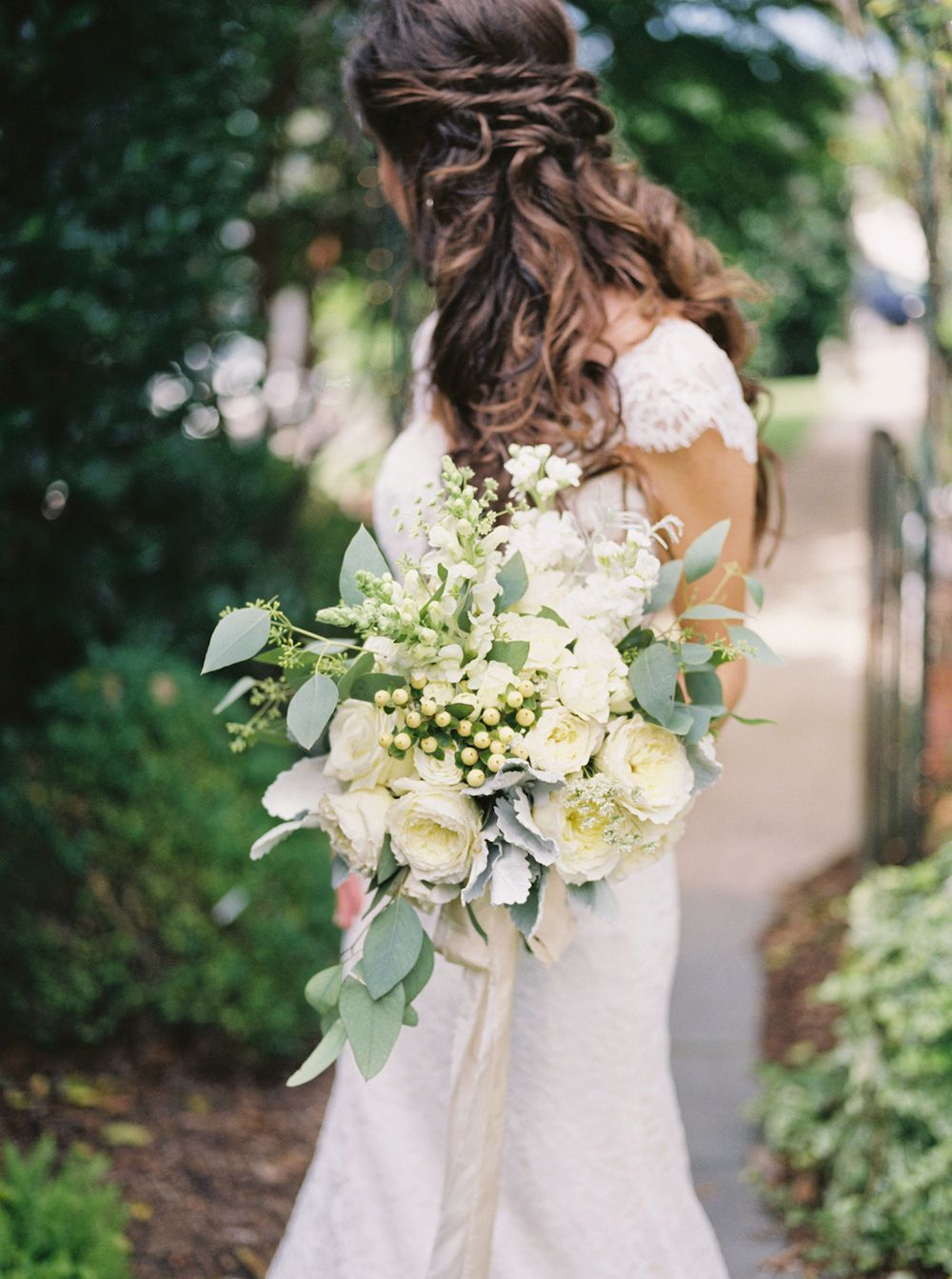 Bouquet by lsl event design with ribbon from froufrou chic for Wedding dresses huntsville al