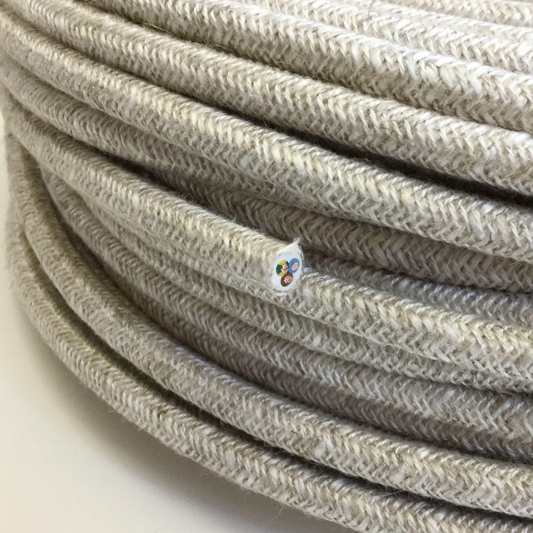Textilkabel Le textilkabel leitung textilfaser umflochten rund leinen 3x0 75