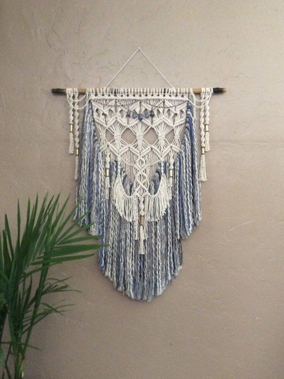 Large Colored Macrame Wall Hanging Colored Yarn Wall