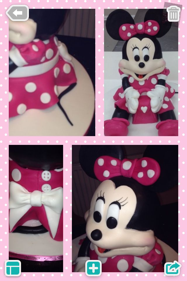 Minnie Mouse Cake Made On A Course At Slatterys Under The Tutelage