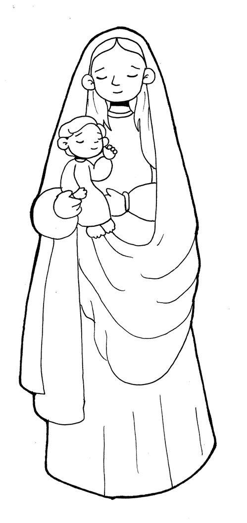 dibujo virgen de los angeles patrona de costa rica  Buscar con