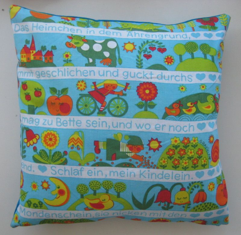 Original vintage 1970\'s cushion cover German Graziela fabric | eBay ...