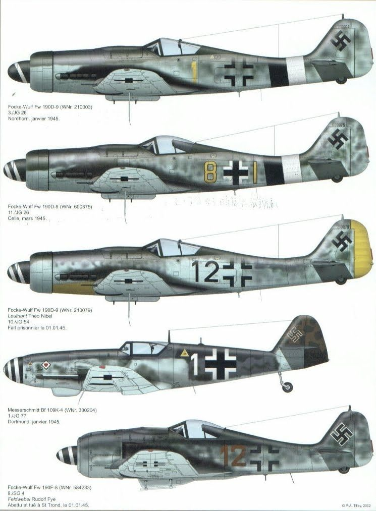 Luftwaffe fighter aircraft | German fighter and bomber