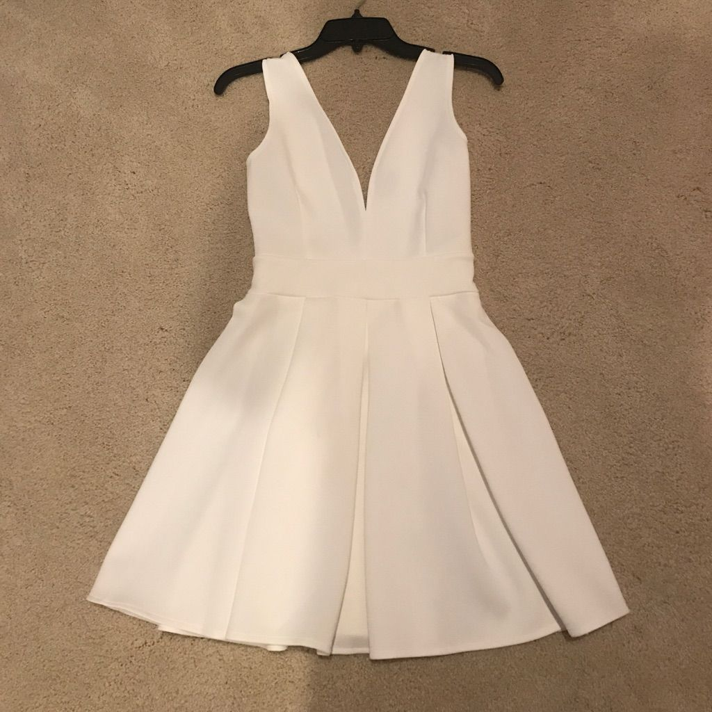 White low cut dress products