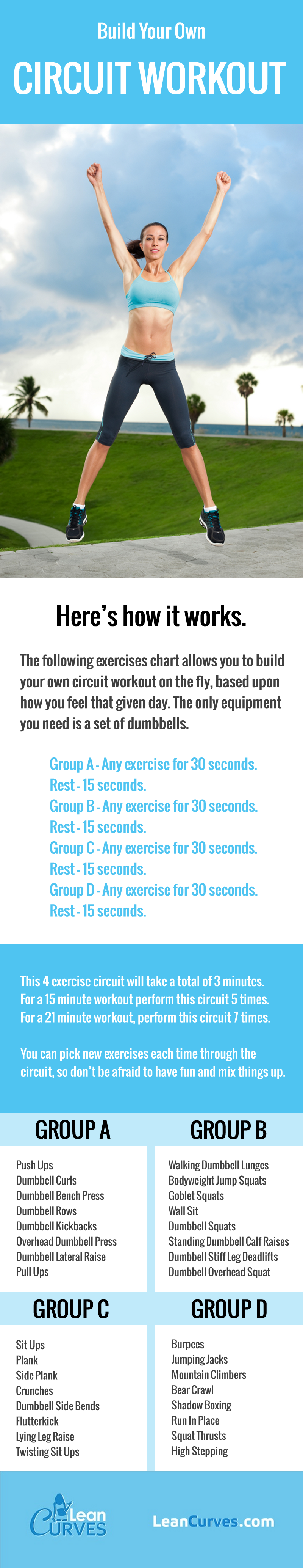 build your own workout circuit exercises chart workouts for women rh pinterest com