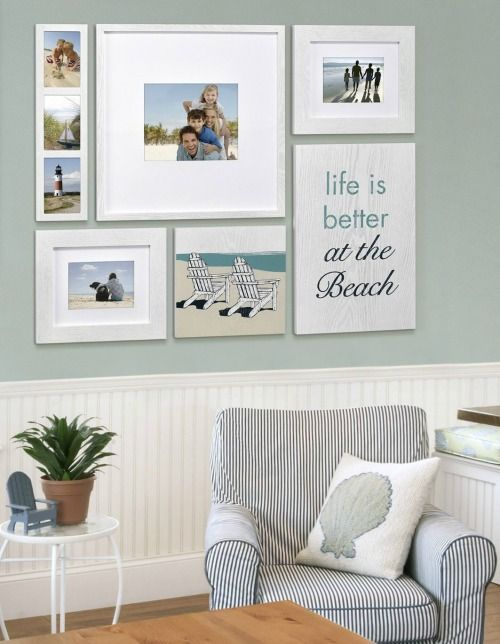 beach memory gallery wall with a life is better at the beach sign featured here