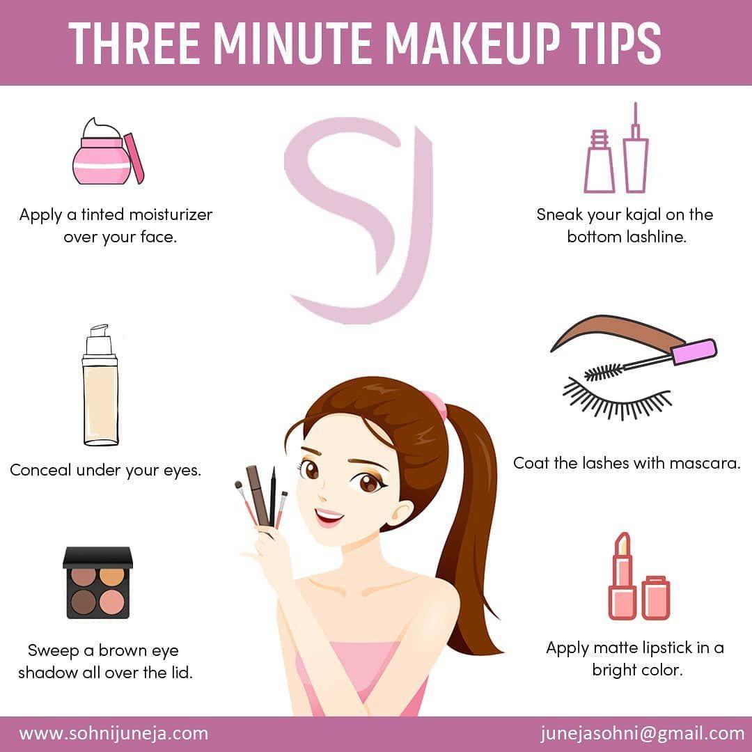 Three Minute Makeup Tips  Event makeup, Best bridal makeup