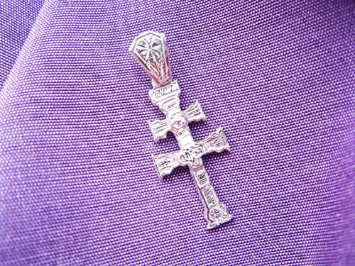Decorative caravaca cross pendant in sterling silver angel decorative caravaca cross pendant in sterling silver mozeypictures Choice Image