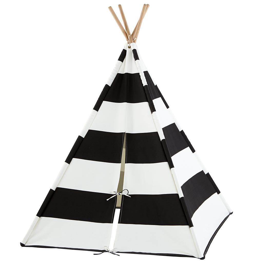 release date 7f03e 61e7c Black Stripe Teepee | playroom: for melethia | Teepee kids ...