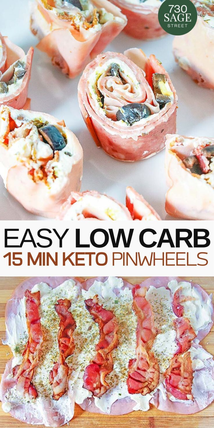 Low Carb Pinwheels with Bacon and Cream Cheese - this quick and easy keto recipe is versatile and is great as an appetizer or as a snack. Perfect recipe for #Gameday. Trust me, everybody will love it!! #easyrecipe #keto #lowcarb #healthy #gameday #appetizer #healthysnack #dinner #quick