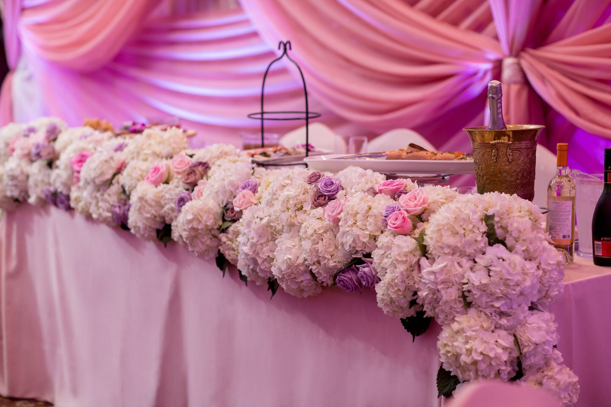 Lavender wedding decor ideas  Wedding head table  head table wedding decorations  Pinterest