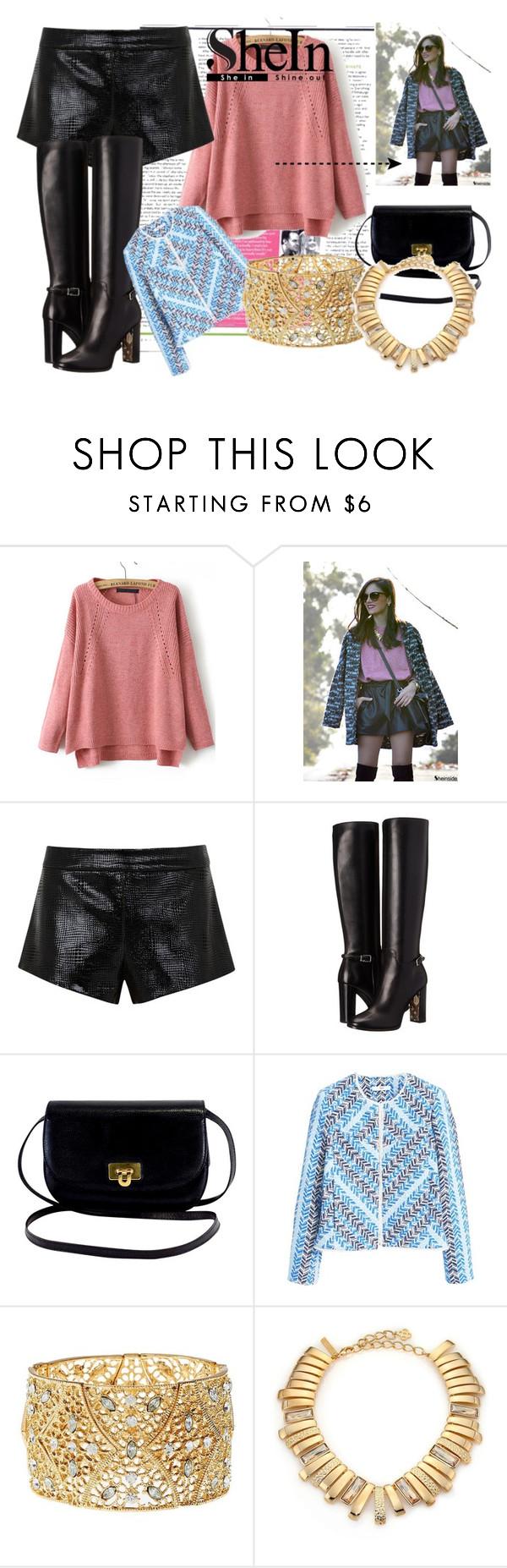 """Pinksweater"" by jelena-supreme ❤ liked on Polyvore featuring Mason by Michelle Mason, Burberry, MANGO, Charlotte Russe, Oscar de la Renta, vintage, GoldenGlobes, fashionWeek and pinkandblue"