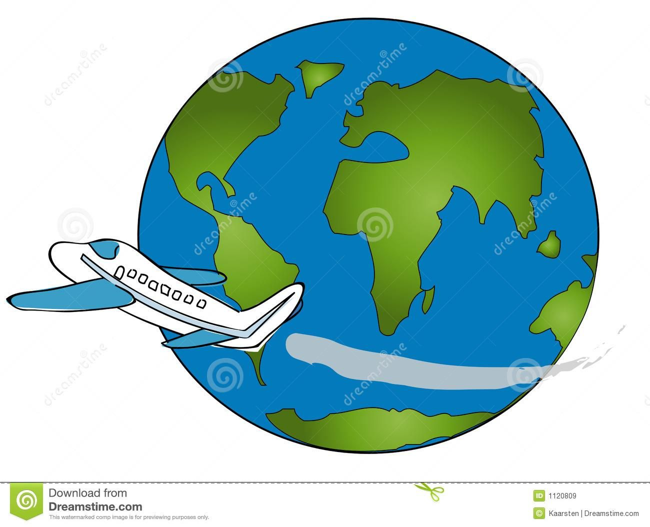 Travel Around The World Clipart
