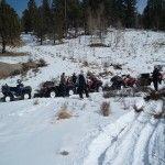 ATV Snow Riding