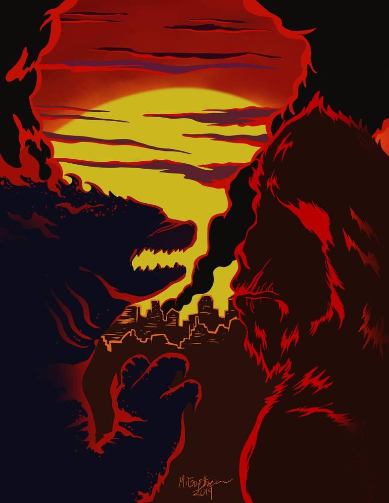 Godzilla Vs Kong By Shadowgoethe On Deviantart Godzilla Vs King Kong Vs Godzilla Godzilla