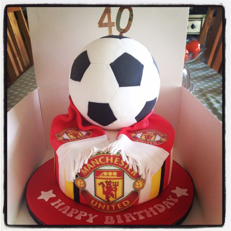 Manchester United Football Cake Birthday Cakes For Men Manchester United Birthday Cake 40th Birthday Cakes For Men