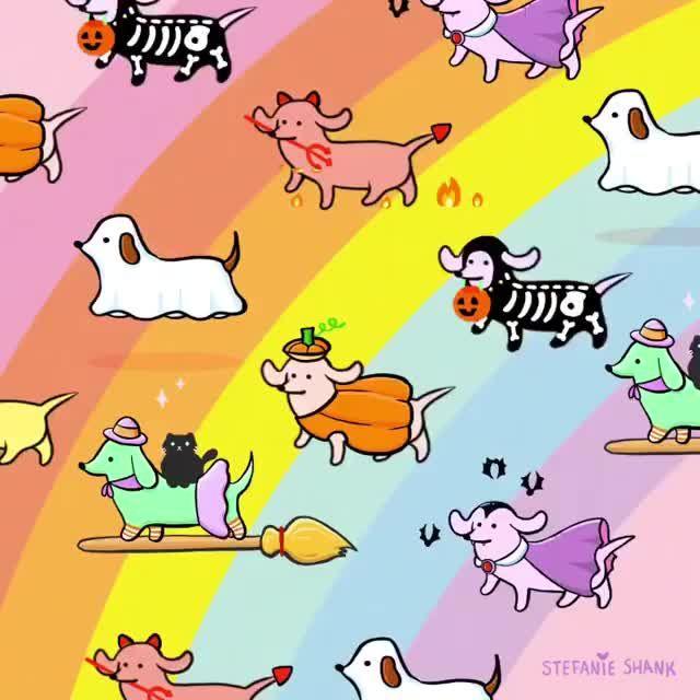 Sausage dog animation by @stefanieshank on IG