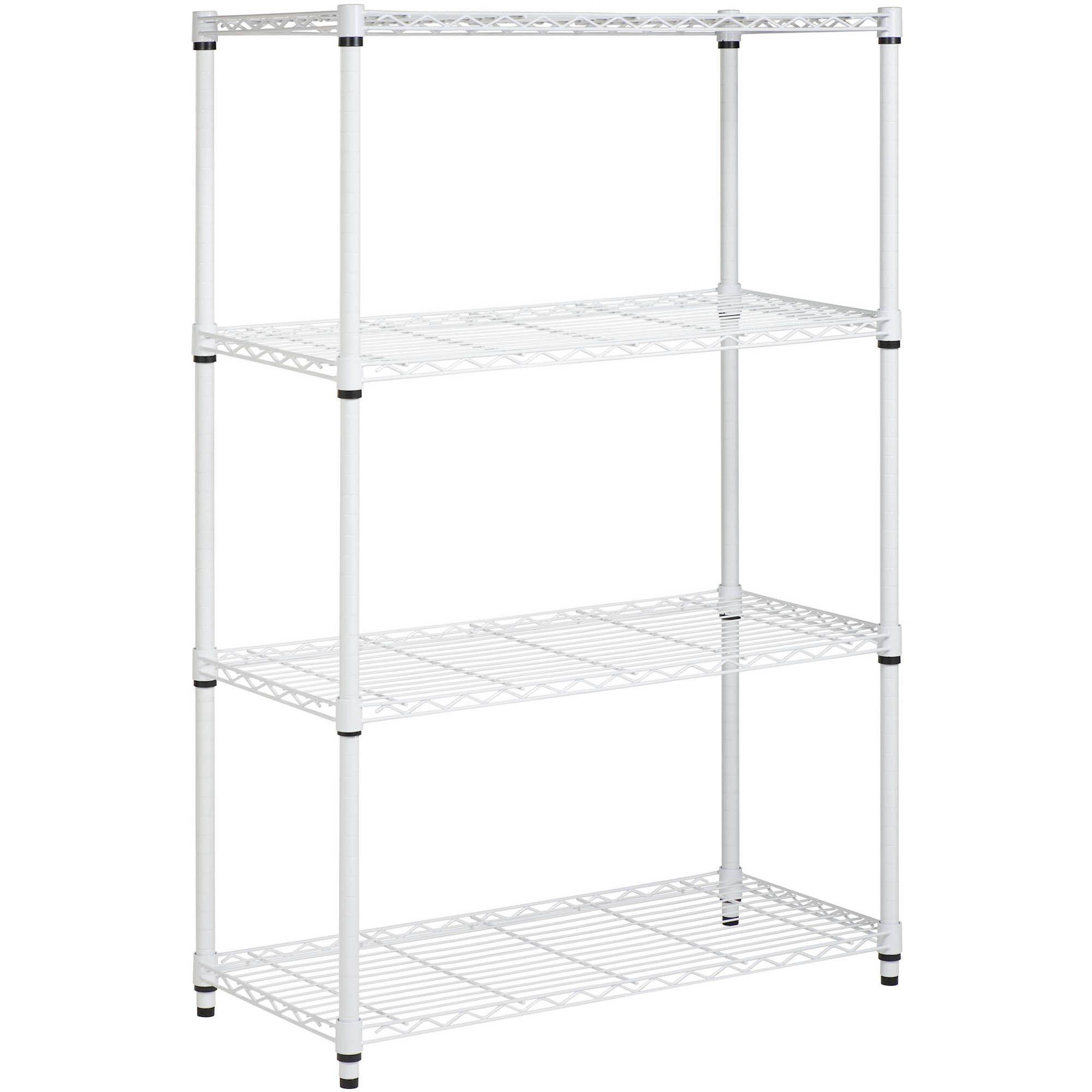 Work Choice 5-Tier Commercial Wire Shelving Rack, Zinc - Walmart.com ...